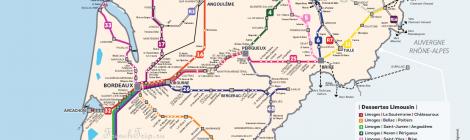 Схема поездов TER по Аквитании