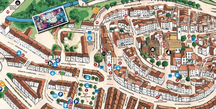 Vence map