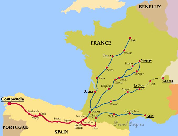 Паломнический маршрут в Сантьяго де Компостела (путь св. Иакова)