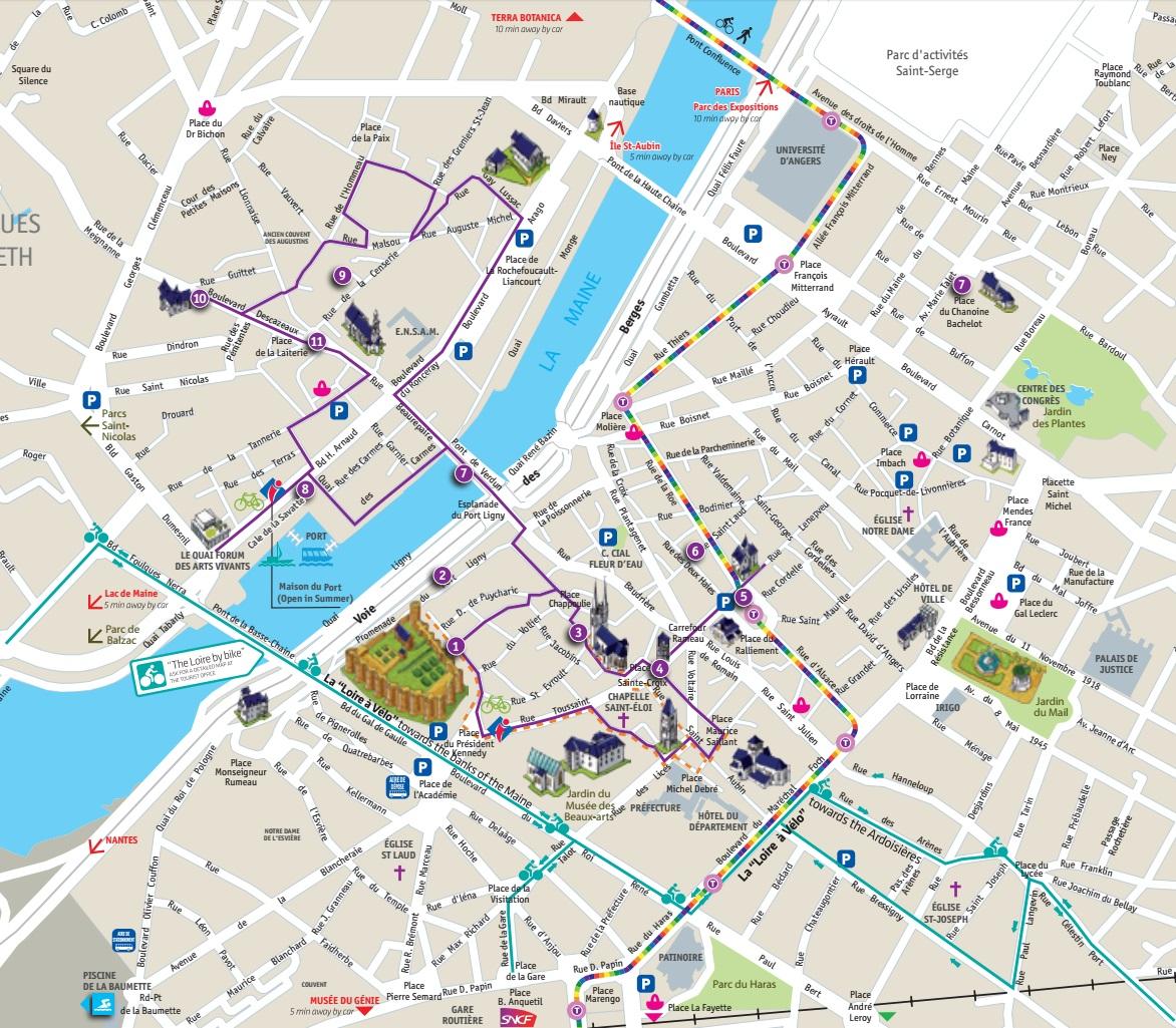 Angers-walking-tour Туристический маршрут по Анже
