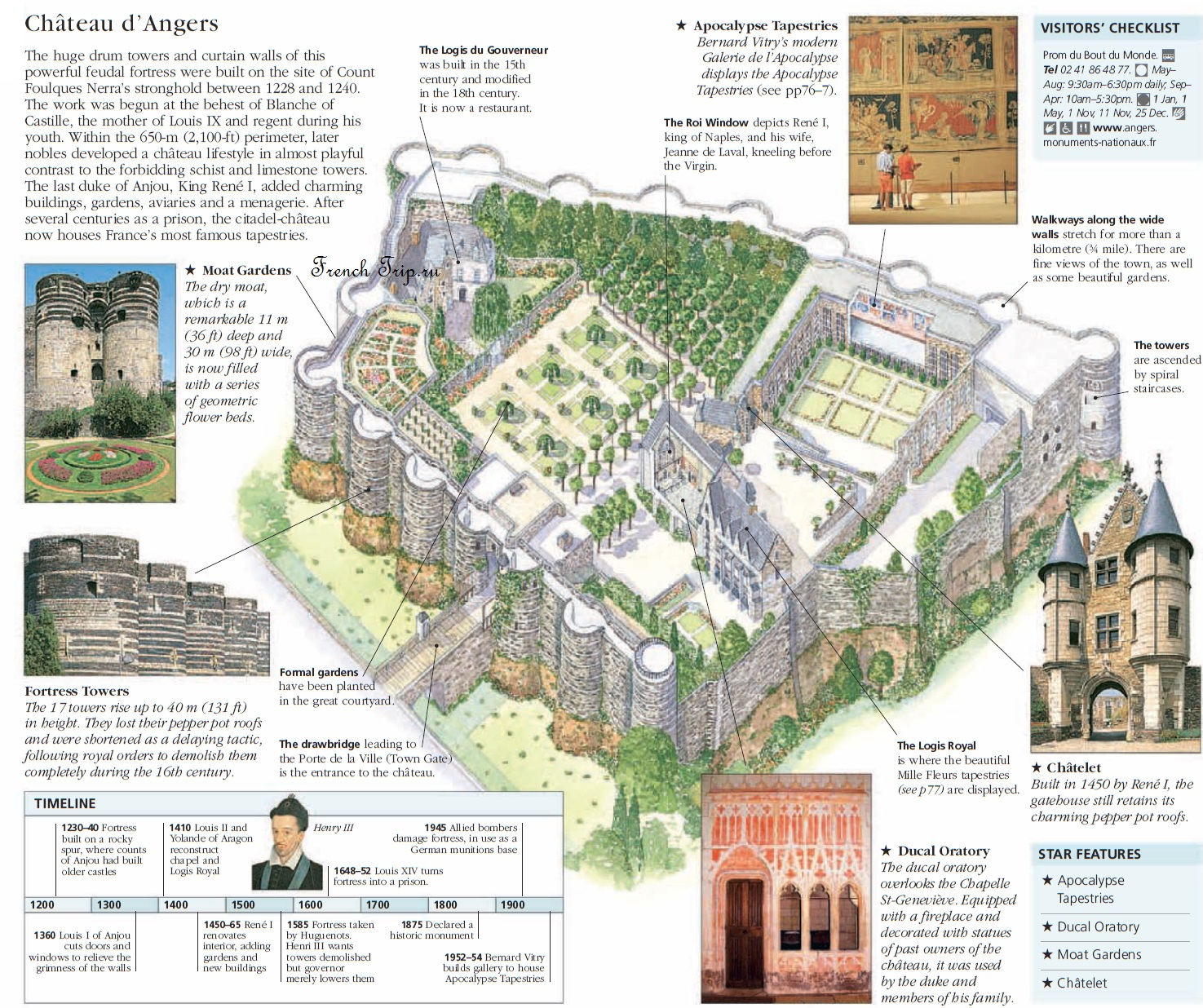 Loire-valley-map-Angers-castle Chateau d' Angers