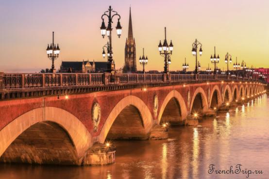 "Туристический маршрут по Бордо - Маршрут ""Старый Бордо"", достопримечательности Бордо, мост Бордо, Старый мост Бордо - bordeaux PONT DE PIERRE"