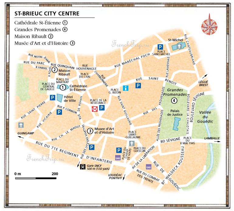 St-Brieuc map