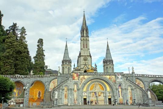 Lourdes (Лурд) Midi Pyrenees-достопримечательности, путеводитель по городу, что посмотреть в Лурде, путеводитель по Франции. Как добраться в Лурд, фото Лурда, паломнически центр Лурд, санктуарий Лурда, святилище Лурда, карта Лурда