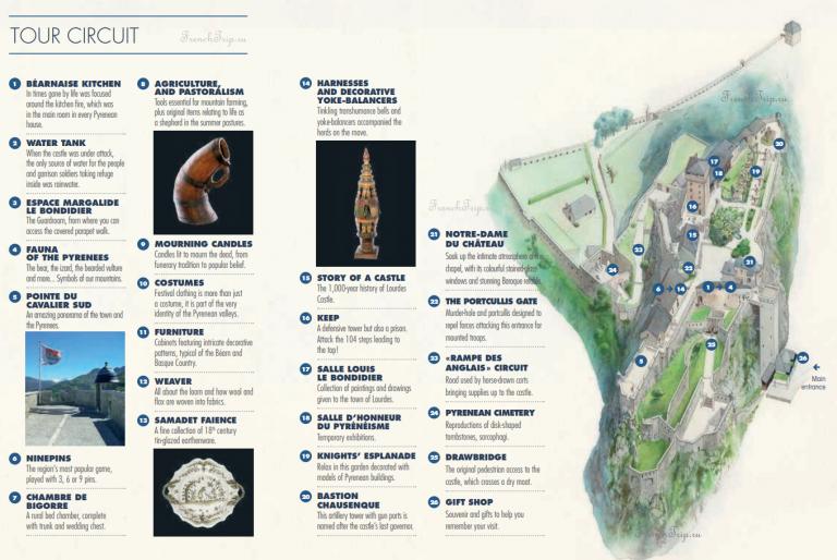 Замок Лурда - карта, достопримечательности. Крепость Лурда, форт Лурда