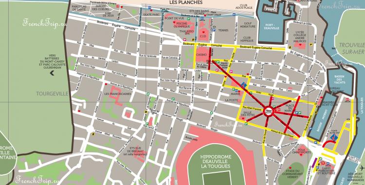Deauville map parking