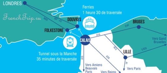 Calais-location-map