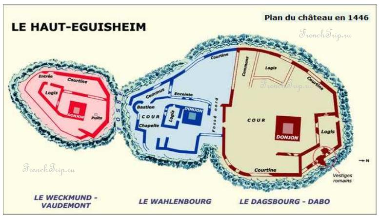 Les trois chateaux, Eguisheim