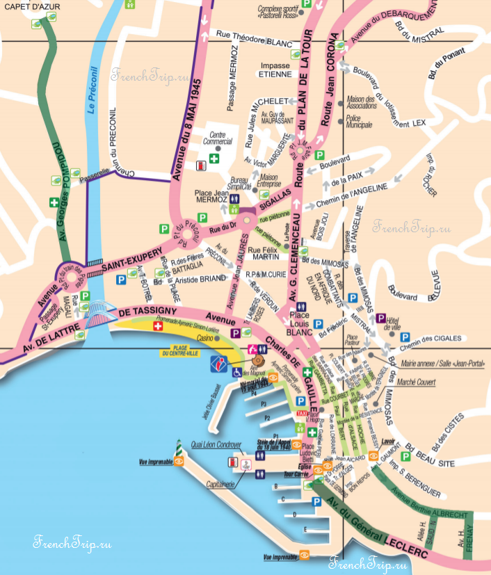 Парковки в Сент-Максим - Saint-Maxime - Parking-map-2