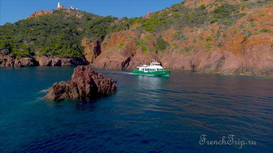 Паромы в Сент-Максим, круизы и водные экскурсии - St-Maxime_cruise_Calanque_Esterel
