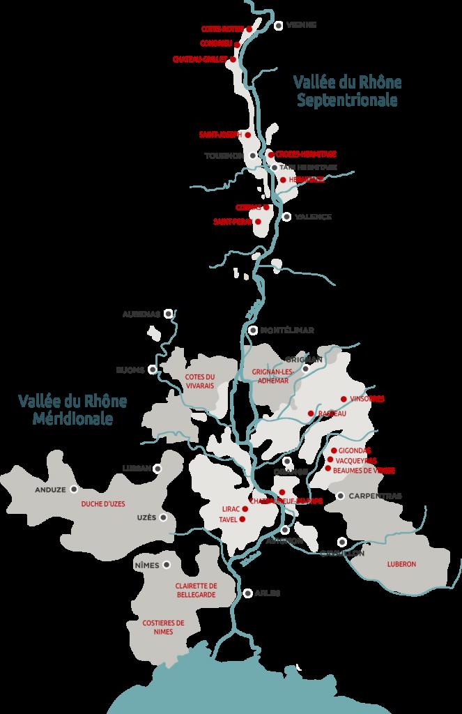 Cote du Rhone - Виноградники долины Роны - Долина Роны