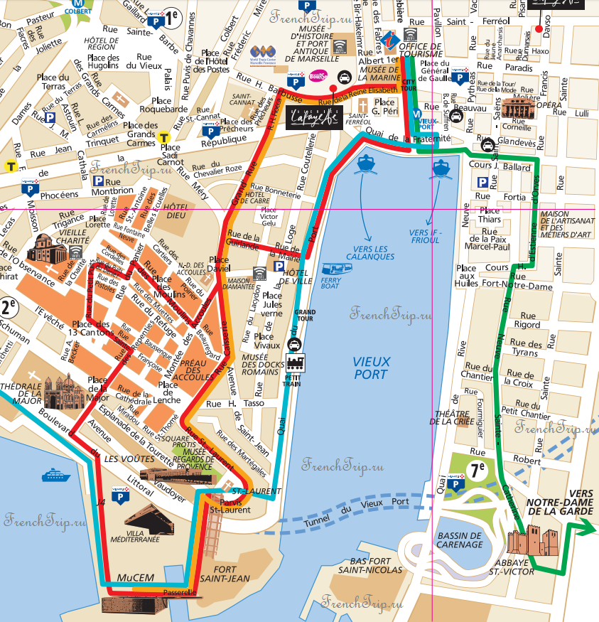 Туристические маршруты по Марселю