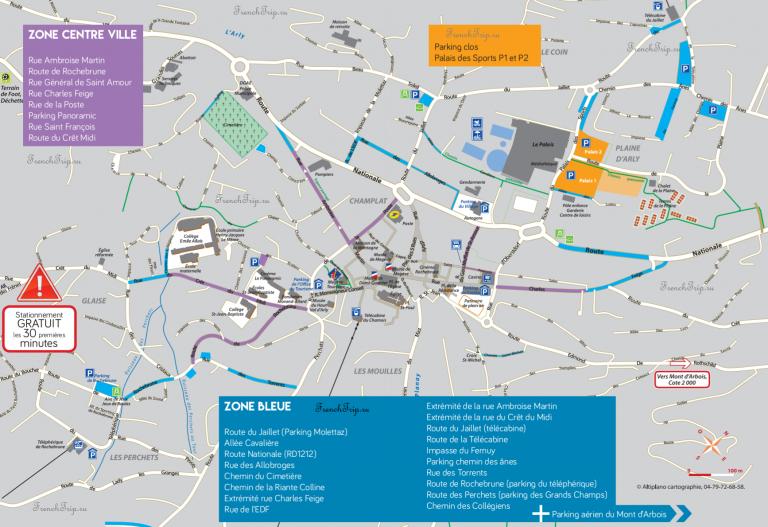 Megeve Parking map