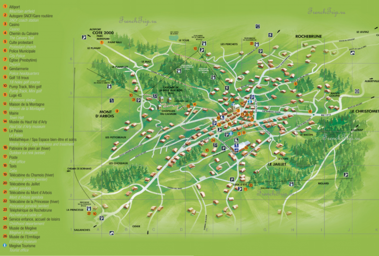 Megeve village map