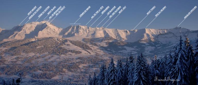 Megeve_French Ski resorts_Mont Blanc_peaks from Megeve