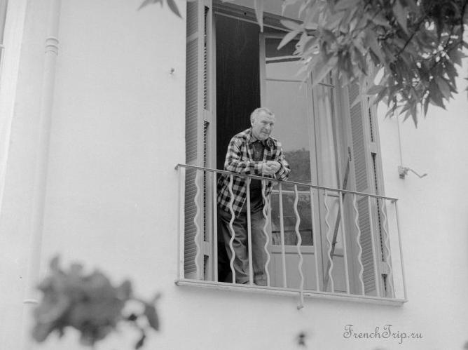 Шагал в своем доме Сен-Поль-де-Ванс 1958