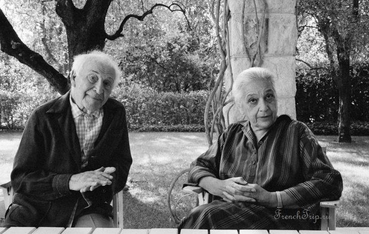 Марк Шагал и его жена Валентина в их доме La Colline, деревня Сен-Поль-де-Ванс, Лазурный берег (Мартина Франк, 1980)