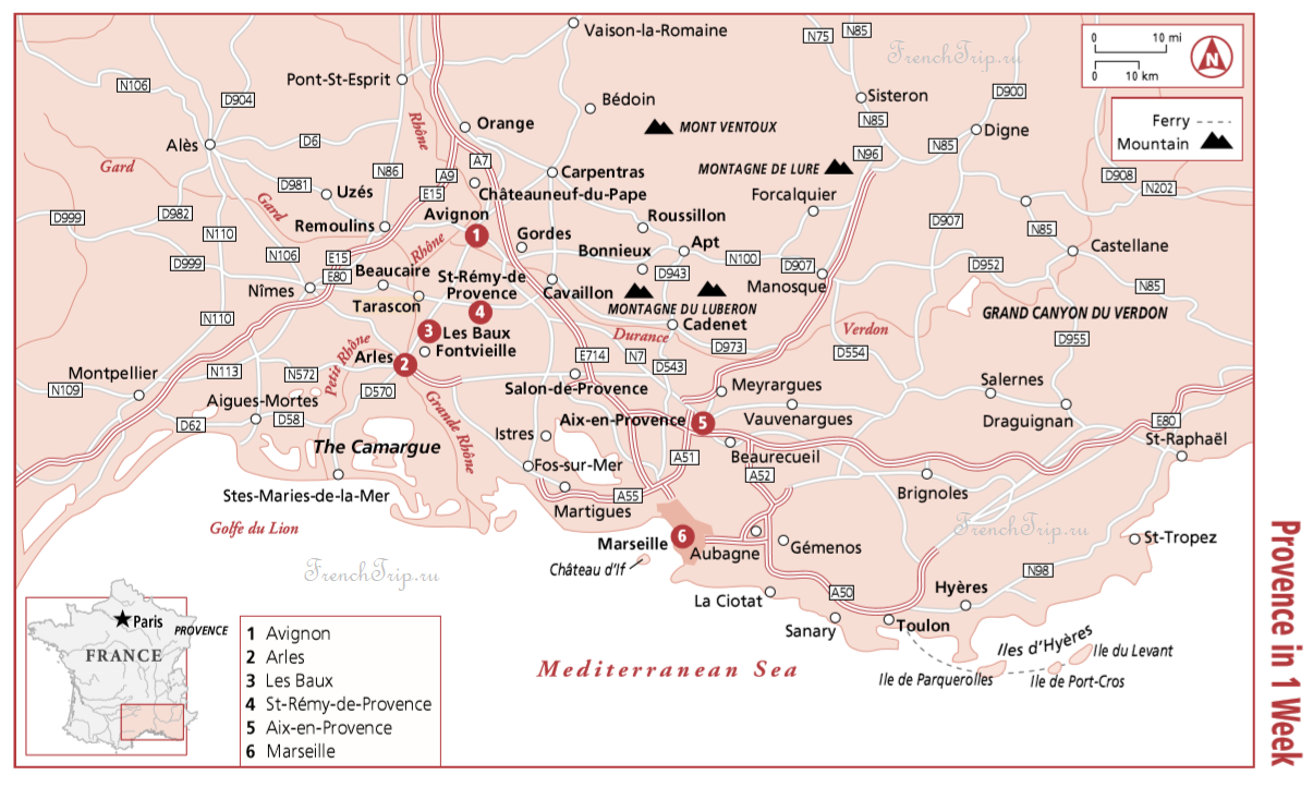 Маршрнуты по Провансу: Прованс за 1 неделю