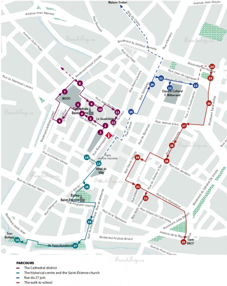 Туристические маршруты по городу Бове