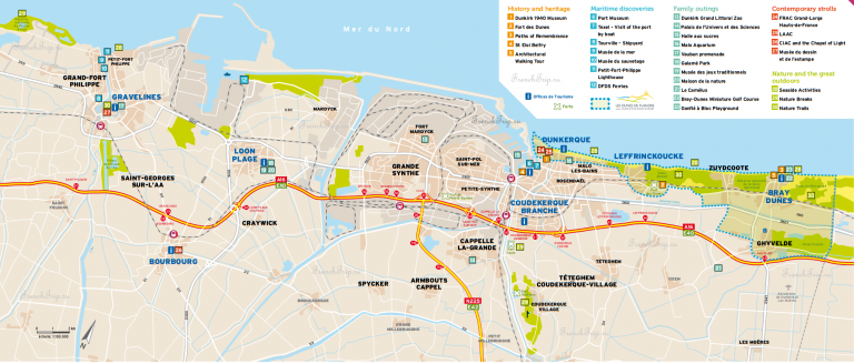 Dunkerque map Карта Дюнкерка
