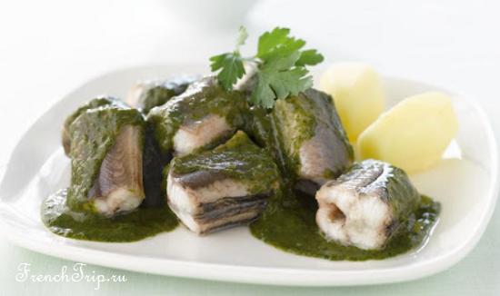 French Cuisine Nord Pas le Calais - Anguilles au vert