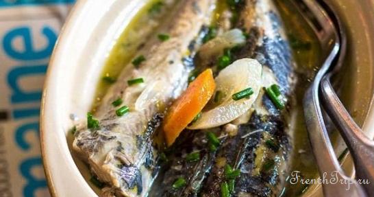 Традиционные блюда Дьеппа: Lisettes marinées à la dieppoise