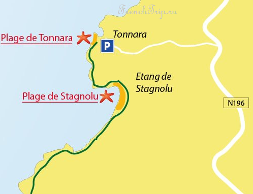 Bonifacio beaches. Tonnara, Stagnolu Пляжи Бонифачо