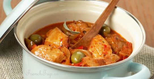 Corsica cuisine traditional dishes - veau aux olives corse Традиционные блюда Корсики