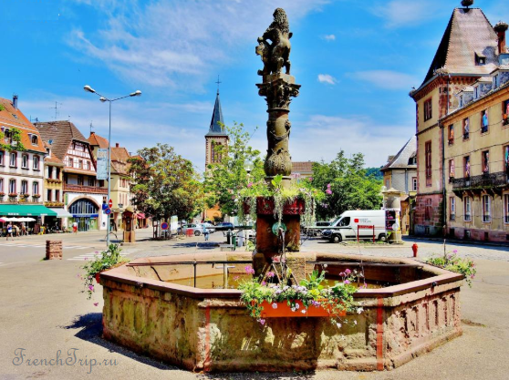 Munster, Alsace_fountain