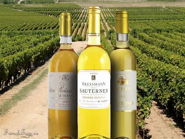 Bordeaux vineyards wine routes, Винные маршруты Бордо - карта - виноградники Бордо - wine Sauternes AOC - вина Сотерн-1