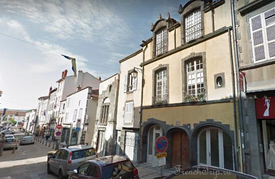 Clermont-Ferrand - Клермон-Ферран - достопримечательности, маршрут по городу, что посмотреть, фото - Монферран маршрут по городу, карта Монферрана - Hôtel Fontfreyde, maison de Lucrèce