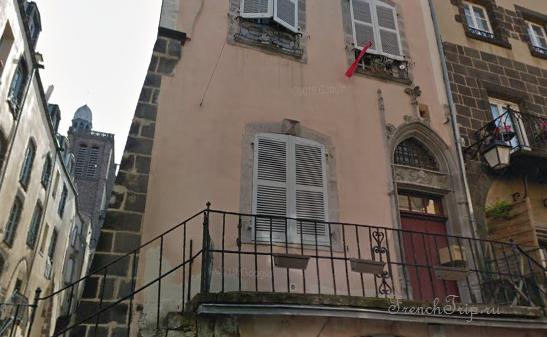 Clermont-Ferrand - Клермон-Ферран - достопримечательности, маршрут по городу, что посмотреть, фото - Монферран маршрут по городу, карта Монферрана - Hôtel Mallet de Vendègre