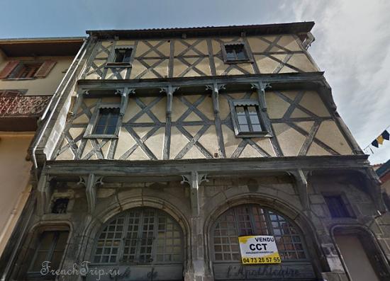Clermont-Ferrand - Клермон-Ферран - достопримечательности, маршрут по городу, что посмотреть, фото - Монферран маршрут по городу, карта Монферрана - maison de l apothicaire_1