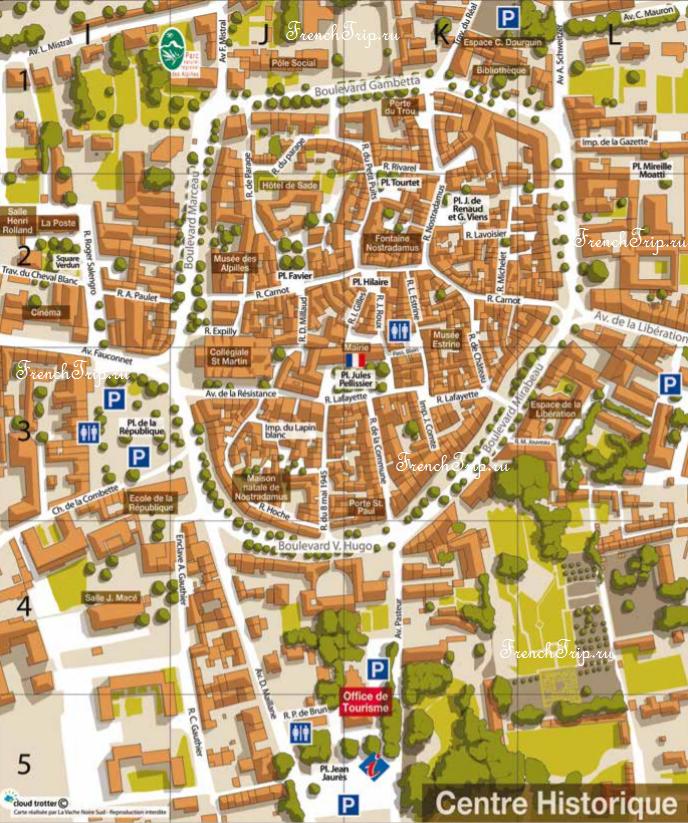 Карта Сен-Реми